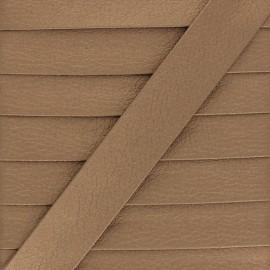 Metallic Faux Leather Bias Binding - Bronze Grained x 1m