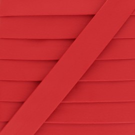 Matte Faux Leather Bias Binding - Red Grained x 1m
