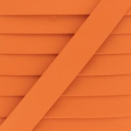 Matte Faux Leather Bias Binding - Pumpkin Grained x 1m