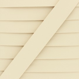 Matte Faux Leather Bias Binding - Cream Grained x 1m