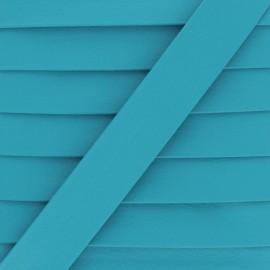 Biais Simili Cuir Grainé Mat - Turquoise x 1m