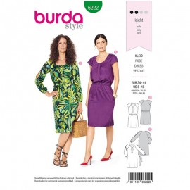 Dress Sewing Pattern - Burda Style n°6222