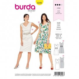 Dress Sewing Pattern - Burda Style n°6228