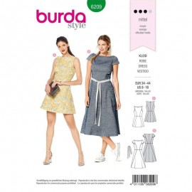 Patron Robe Fluide Burda n°6209