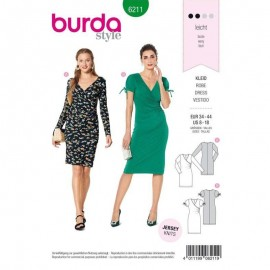 Dress Sewing Pattern - Burda Style n°6211