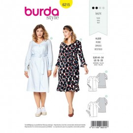 Patron Robe casual Burda n°6215
