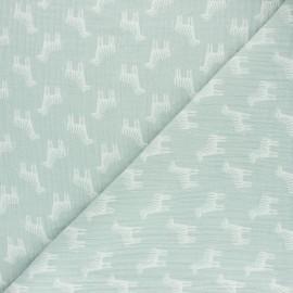 Tissu double gaze de coton Zèbre - milk x 10cm