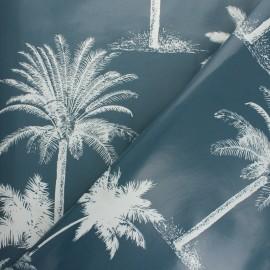 Tissu toile cirée Jaipur - bleu x 10cm