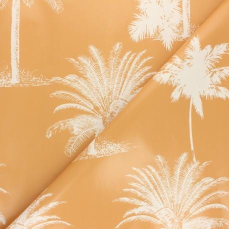 Tissu toile cirée Palmier - bleu x 10cm