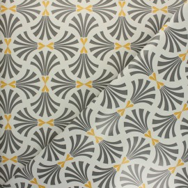 Oilcloth fabric - mustard Palmier x 10cm