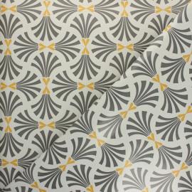 Tissu toile cirée Gustavo - gris x 10cm