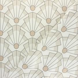 Oilcloth fabric - grey Gustavo x 10cm