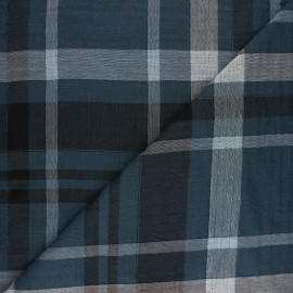 Tartan Double cotton gauze fabric - Beige Galway x 10cm