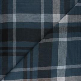 Tissu double gaze de coton Brose - bleu x 10cm