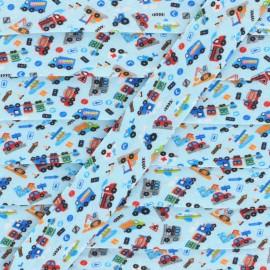 Biais Polycoton Carcity 20 mm - Bleu ciel x 1m