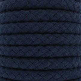 15 mm braided cord - Navy Blue Thick x 1m