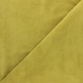 Tissu Micro-éponge Bambou - vert tilleul x 10cm