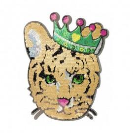 Écusson à Coudre Tigre Roi XL - Doré
