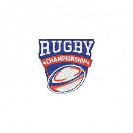 Rugby Championship Iron-On Patch - A