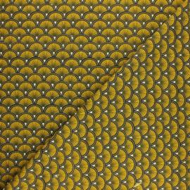 Jersey cotton fabric - green Doucet x 10cm