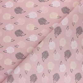 Cretonne cotton fabric - Pink Joli Mouton x 10cm