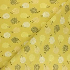 Tissu coton cretonne Hérisson - gris x 10cm