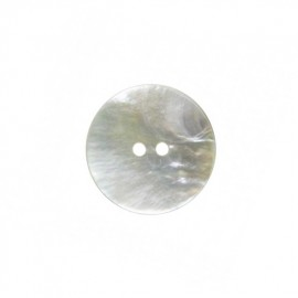 Round mother-of-pearl button - natural