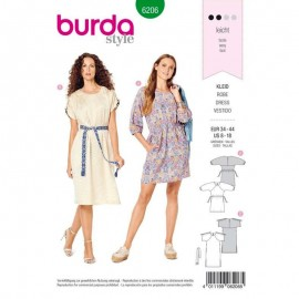 Dress Sewing Pattern - Burda Style n°6206