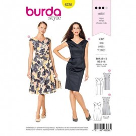 Patron Robe cocktail Burda n°6236