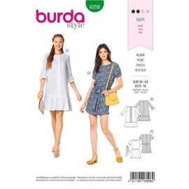 Dress Sewing Pattern - Burda Style n°6208