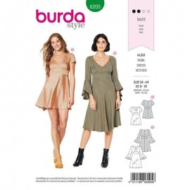 Patron Robe empire Burda n°6205