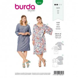 Dress Sewing Pattern - Burda Style n°6216