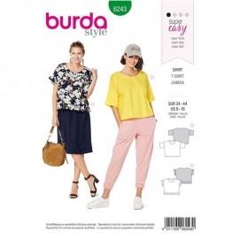 Patron T-shirt col rond–  Burda N°6243