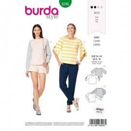 Patron T-shirt manches ajourées–  Burda N°6246