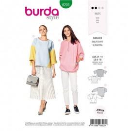 Patron pull ample–  Burda N°6243