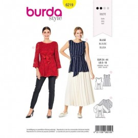 Tunique nouée sur le devant –  Burda N°6219