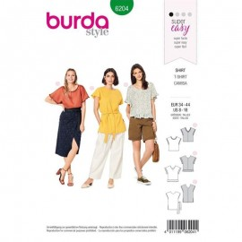 Patron Top bohème –  Burda N°6204