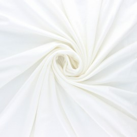 Tissu sweat léger Modal uni - écru x 10cm