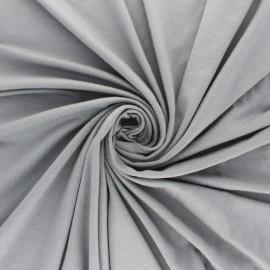 Plain Modal jersey Fabric - medium grey x 10cm