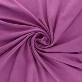 Tissu jersey Modal uni - violet x 10cm