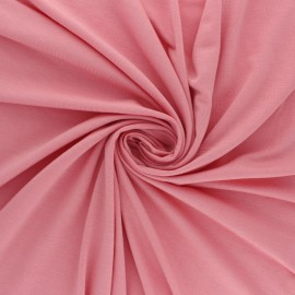 Tissu jersey Modal uni - Mauve x 10cm