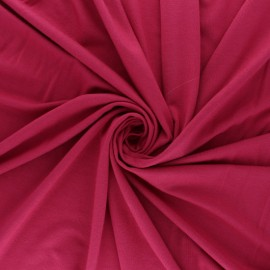 Plain Modal jersey Fabric - coral pink x 10cm