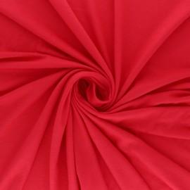 Tissu jersey Modal uni - Framboise x 10cm
