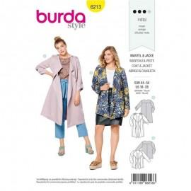 Patron Veste esprit trench Femme Burda n°6213
