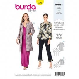 Patron Veste à bouton Femme Burda n°6248