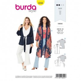 Patron Veste kimono Femme Burda n°6244