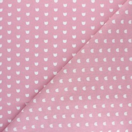 Cretonne cotton fabric - Pink Hedgehog x 10cm
