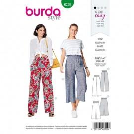 Patron Pantalon ceinture smockée Burda n°6229