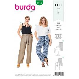 Patron Pantalon casual femme Burda n°6218