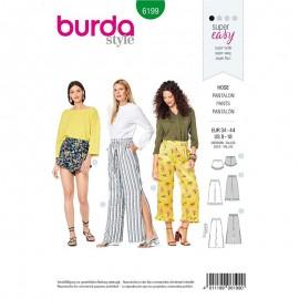 Patron short pantalon détente femme  Burda n°6199